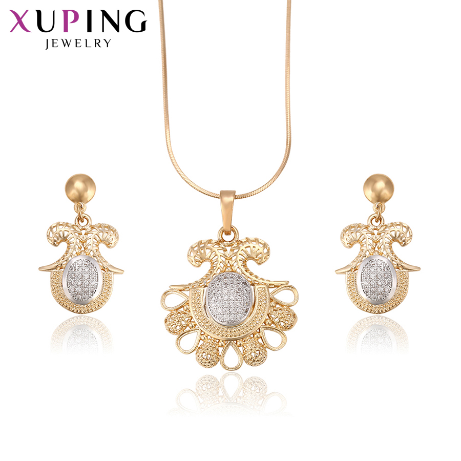 Xuping Fashion Luxury Popular Style Set With Synthetic CZ for Women Girls Hot Sell Jewelry Sets Halloween Gifts S71,1-62116