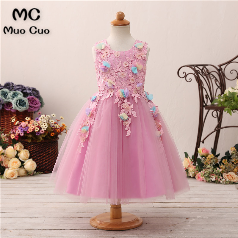Puffy 2018 Ball Gown Pearls first communion   dresses   for   girls   Appliques kids evening gowns   flower     girl     dresses   for weddings
