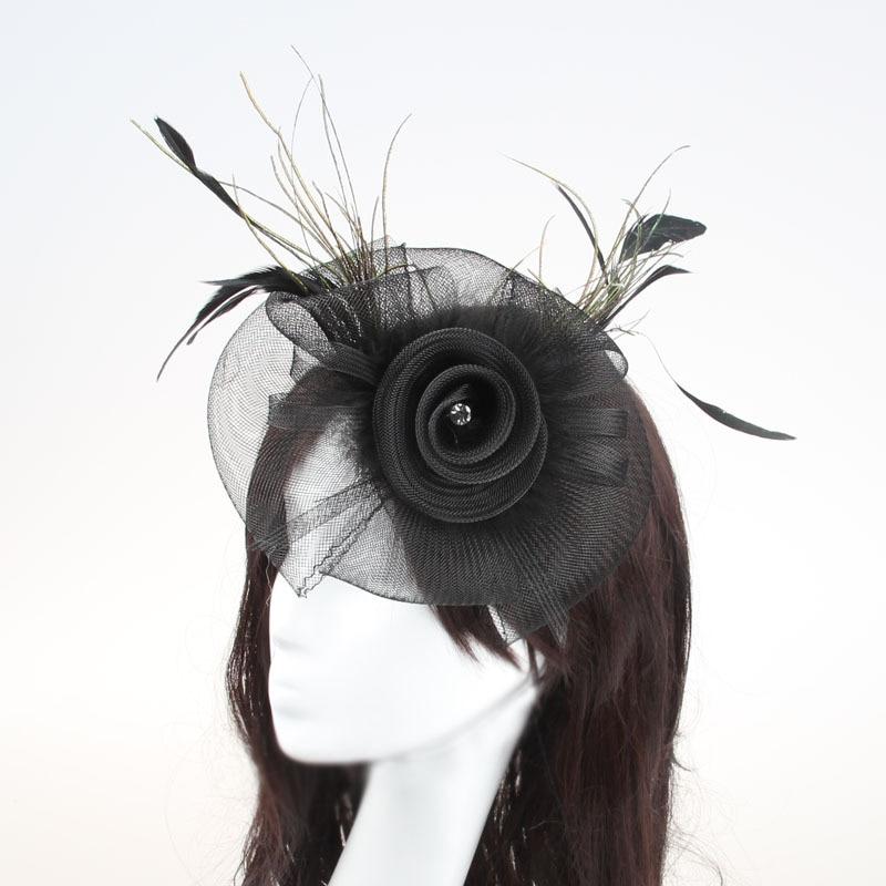 3pcs/lot new lady Fascinator hat with headband Weddings Evening wear <font><b>Races</b></font> Hair Accessory