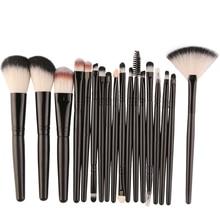Best Deal Professional 18 PCS Makeup Brushes Set Tools Make-up Toiletry Kit Wool Brand Brush Set Cosmetic Foundation Brush
