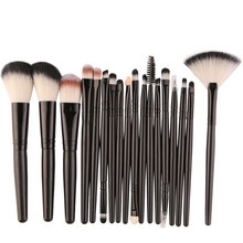 Best Deal Professional 18 PCS Makeup Brushes Set Tools Make-up Toiletry Kit Wool Brand Brush Set Cosmetic Foundation Brush(China)