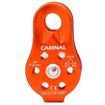 Camna טיפוס חבל גלגלת 26Kn אחת קבוע גלגלת טיפוס חבל טיפוס Downhill מצילי חיים ציוד חיצוני-באביזרי טיפוס מתוך ספורט ובידור באתר
