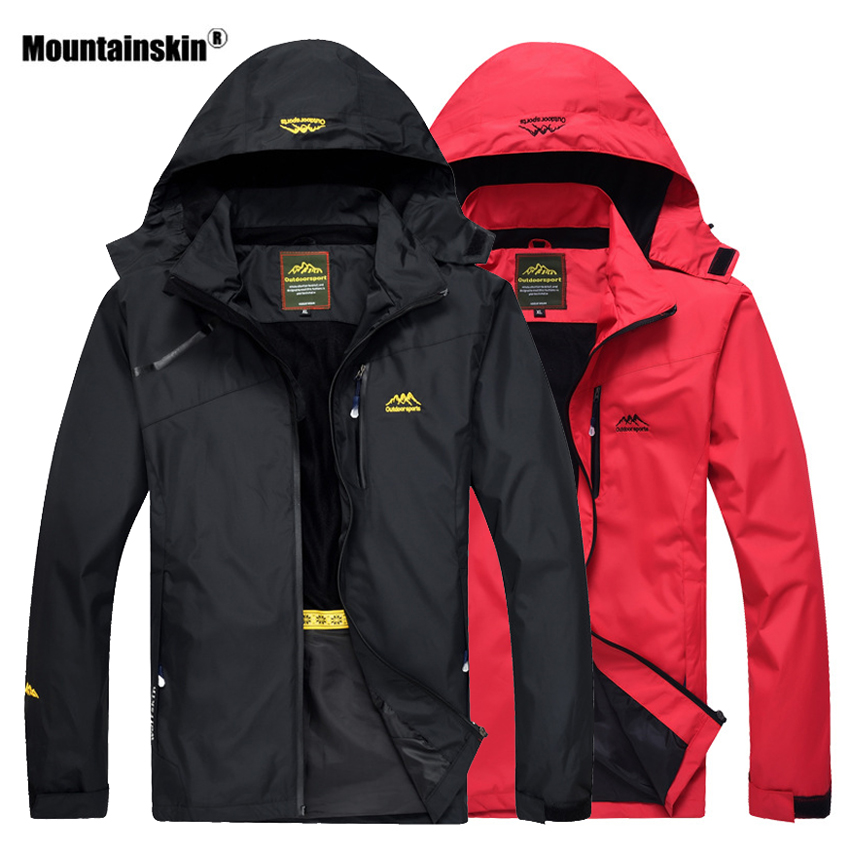 Mountainskin Hiking Jacket Men Autumn Outdoor Sports Coats Hooded Climbing Trekking Windbreaker Waterproof Jackets Brand VA289