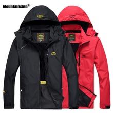 Mountainskin Hiking Jacket Men Autumn Outdoor Sports Coats Hooded Climbing Trekking Windbreaker Waterproof Jackets Brand VA289