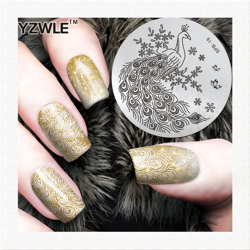 YZWLE Christmas nail art decorations stamp decoration Designs Nail Art Image nail stamping plates manicure tools