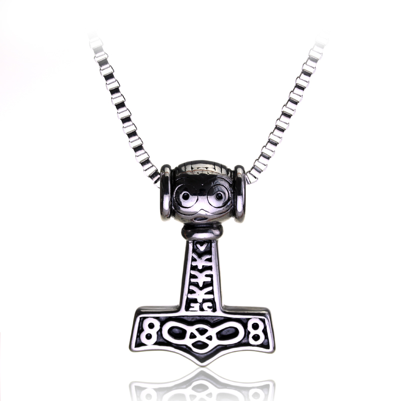 19 Style Thor Hammer Necklace MJOLNIR NORSE VIKING GOD Pendant Thor 39 s Hammer MYTHOLOGY New Pendant Jewelry for Women Men Gifts in Pendant Necklaces from Jewelry amp Accessories