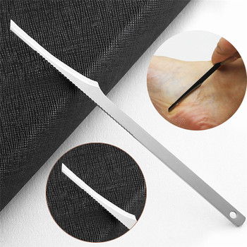 Nowy paznokci martwy naskórek strugarka 1 sztuk Pedicure Manicure środek do czyszczenia paznokci skórek do pielęgnacji martwy naskórek strugarki 0708 #30 tanie i dobre opinie tungsten steel Pusher skórek Dead Skin File 12 8 cm in length
