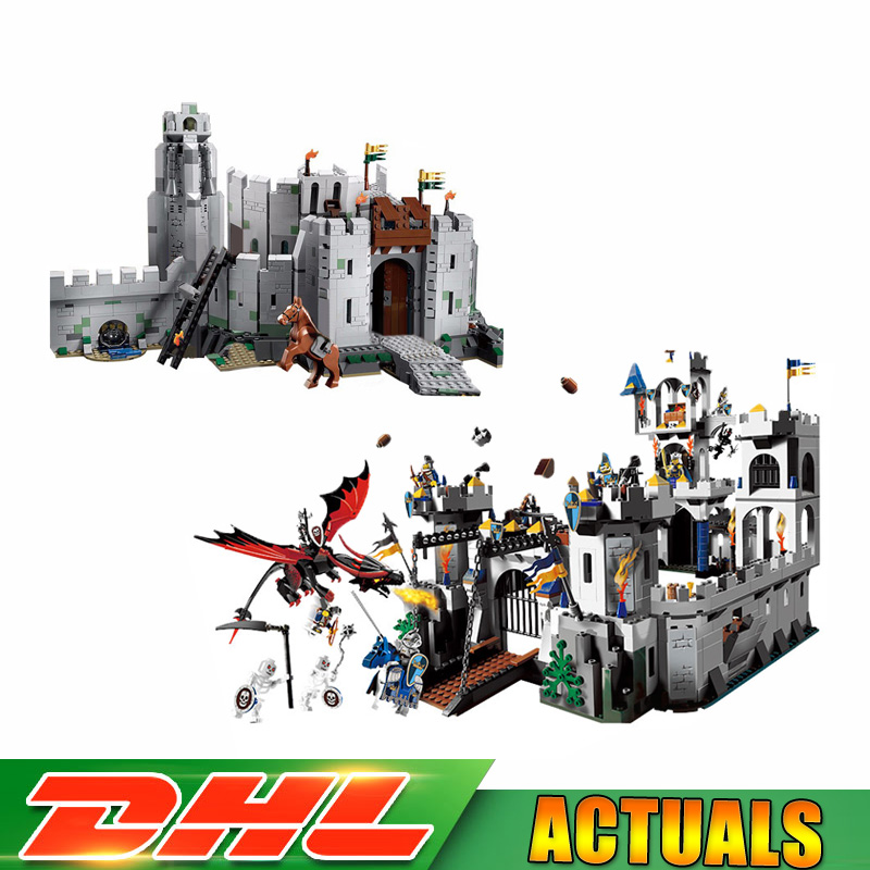 Lepin 16013 1368Pcs The Lord of The Rings The Battle of Helm' Deep 16017 1023 Pcs The King's Castle Blocks Bricks Toy 9474 7094