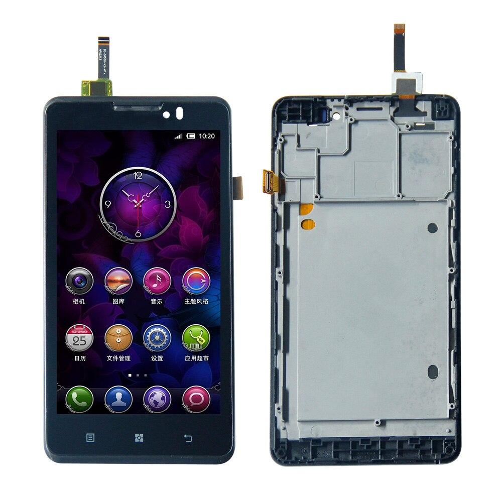 5.0 Pour Lenovo P780 Écran Tactile Digitizer LCD Assemblée D'affichage avec Cadre Livraison Gratuite