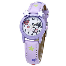 Disney бренда детская наручные часы Девушка Minica мультфильм 30 м водонепроницаемый кварцевые часы Кожа смотреть дети