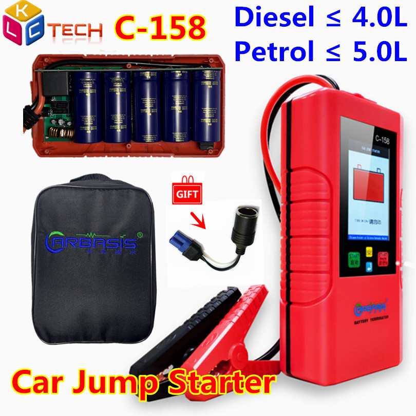 C158 No Battery Included 12V Car Jump Starter C-158 Car Power Bank Super Capacitor Unlimited Use Battery Power ForPetrol/Diesel(China)