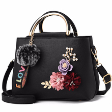 Women Bag Leather Handbag Women Shoulder Bag Tote Flowers Sh