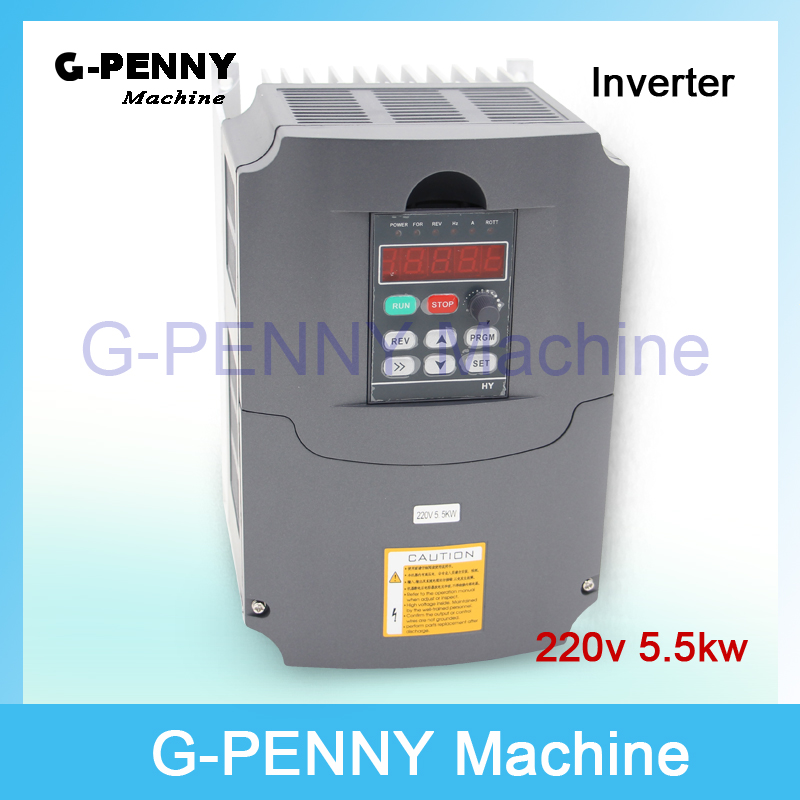 цена на 220v 5.5kw VFD Variable Frequency Drive VFD Inverter 3HP Input 3HP Output  CNC spindle motor Driver spindle motor speed control