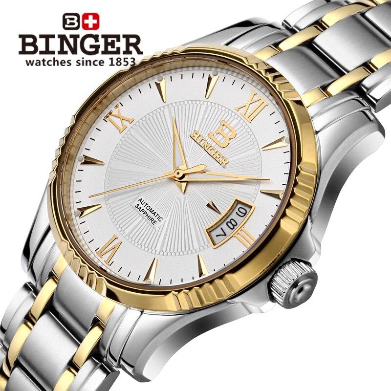Suisse BINGER Montre Hommes Marque De Luxe Japon MIYOTA Automatique Mécanique Hommes Montres 100 m De Natation Étanche Horloge B5011-5