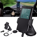 Qi Carregador de Carregamento Sem Fio Car Windshield Mount Holder Suporte Para Telefone Inteligente