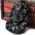 100% NATURAL OBSIDIAN CRYSTAL PENDANT CARVING Dragon pendant
