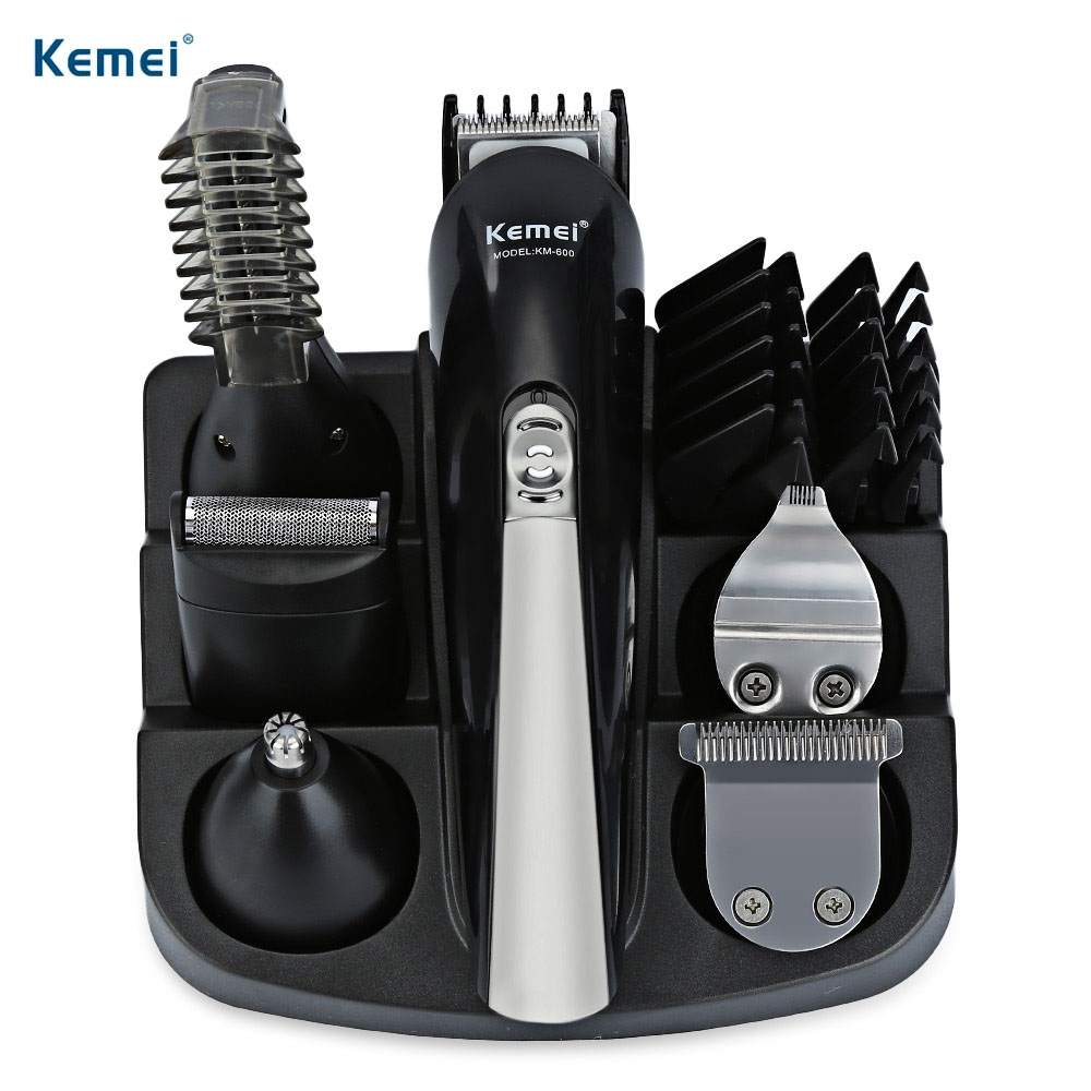 Kemei KM600 Professional Hair Trimmer 6 In 1 Hair Clipper Shaver Sets Electric Shaver Beard Trimmer Hair Cutting Machine