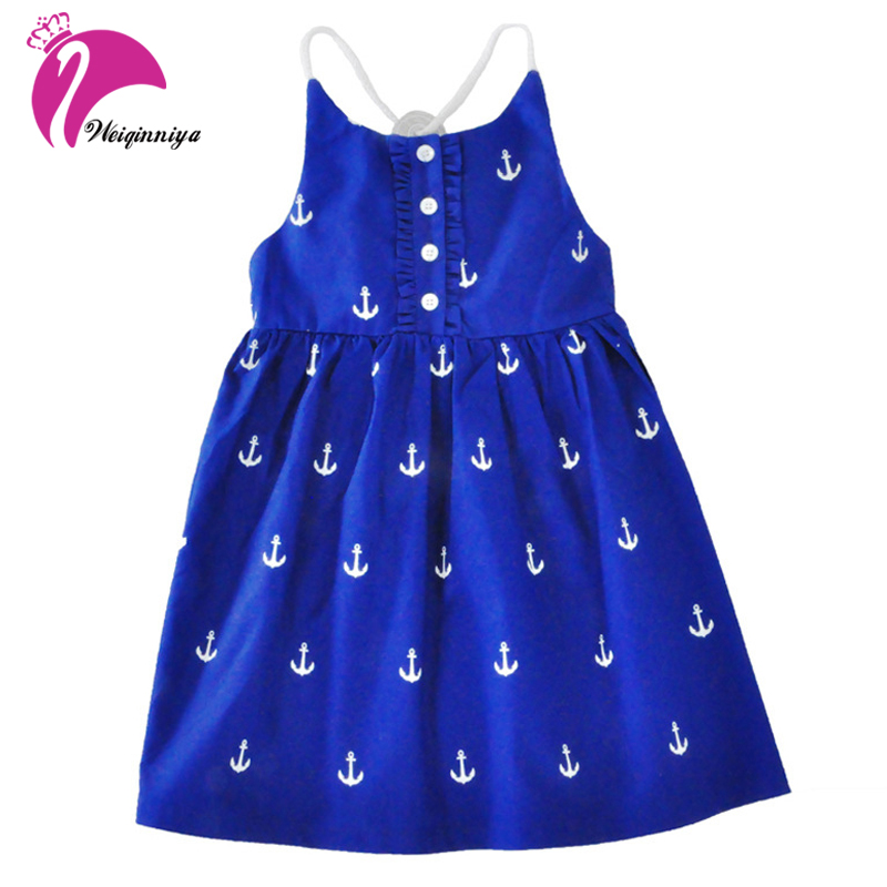 цены  Summer Girls Dress New 2017 Brand Fashion Sleeveless Vest Dress Casual Cotton Bohemian Beach Vestido Infantil Kids Clothes Hot