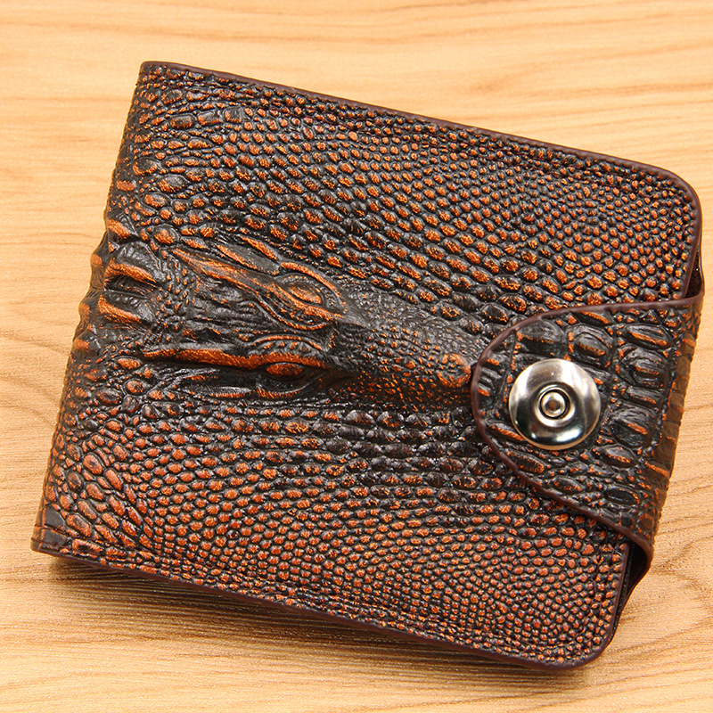 Men's Wallets Money-Bag Coin-Purse Credit-Card-Holder Crocodile-Pattern Famous Brand-New