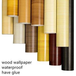Image 1 - Self adhesive thick waterproof pvc wood grain stickers Boeing film wallpaper wardrobe cupboard room door furniture renovation