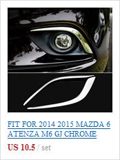 Подходит для MAZDA 6 ATENZA M6 2013- Хромированная передняя капот решетка гриль для губ рельефная Накладка для отделки бар отделка крышка протектор