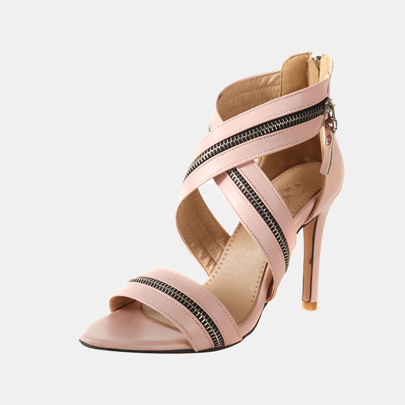 Dedo Del rojo Atado Cm Pie 2019 Zapatos Cruz Verano Zip rosado Las Mujeres Moda Sandalias Abierto Bandas De Para 10 Alto Negro Tacón Black Gótico Estilo Mujer HanqZFH
