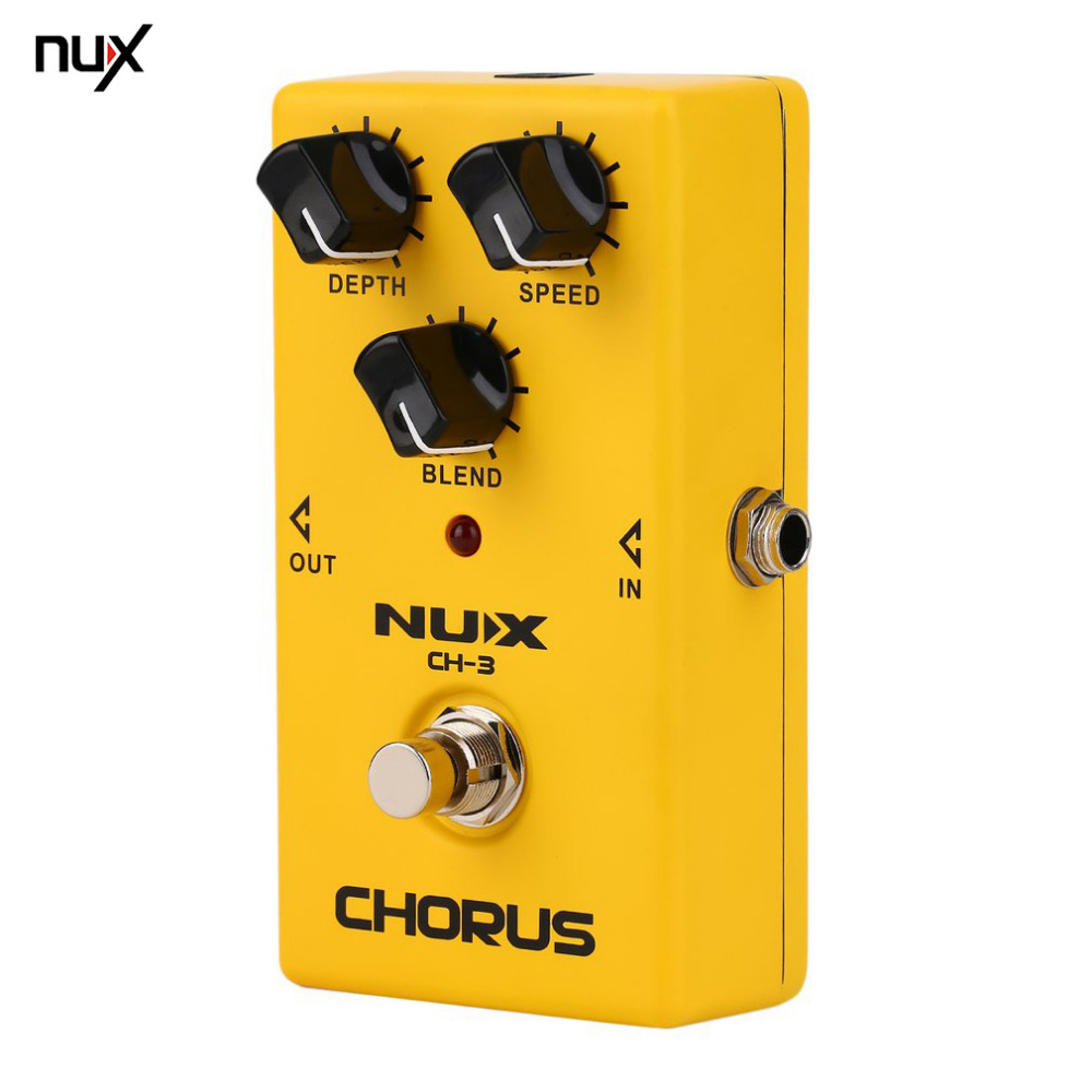 NUX Protable Guitar Simulation Chorus Effect Device CH-3 Guitar Effect Pedal Guitar Great Booster Yellow Hot sale new shengshou 9x9x9 magic cube professional pvc