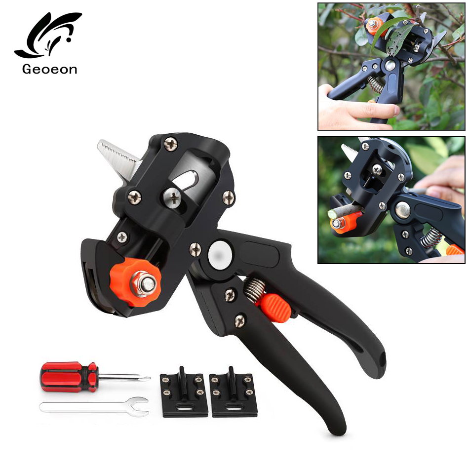 Geoeon Cloth Boxes Garden Tools Grafting Shears Gardening Pruning Tools With 2 Blade Scissors For Grafting Trees A9