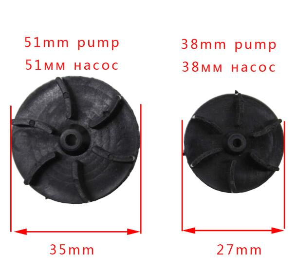 1PC 51mm /38mm Repair Part Plastic 6 Fan Blades Electric Water Fuel Pump Rotor Impeller