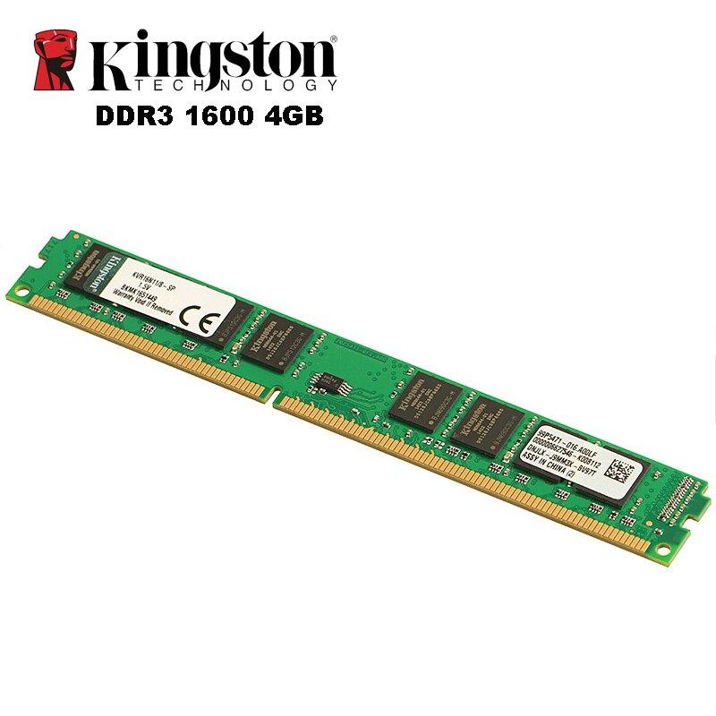 Kingston DDR3 Memoria RAM 8 GB 4 GB 1600 MHz pour Pc De Bureau Intel ordinateur DIMM DDR 3 PC3-12800 Mémoire Dropshipping ddr3 1600 8 gb 4 gb