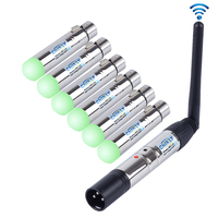 7PCS DMX512 Wireless Lighting Controller Receiver Transmitter 2 4G