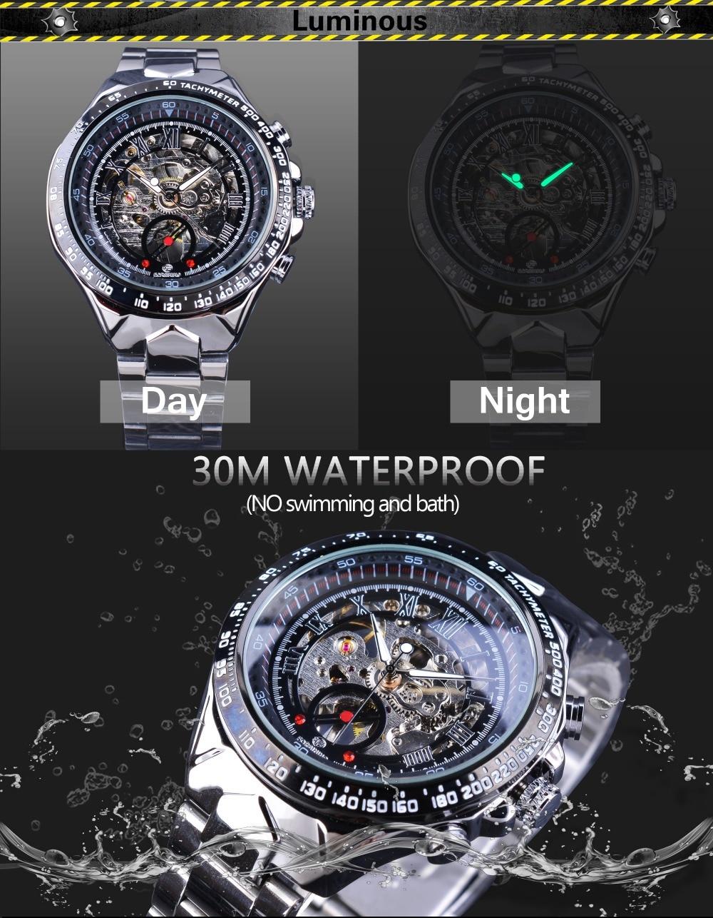 HTB1CS0DaoF7MKJjSZFLq6AMBVXa7 Forsining Transparent Case Open Work Silver Stainless Steel Mechanical Skeleton Sport Wrist Watch Men Top Brand Luxury Men Clock