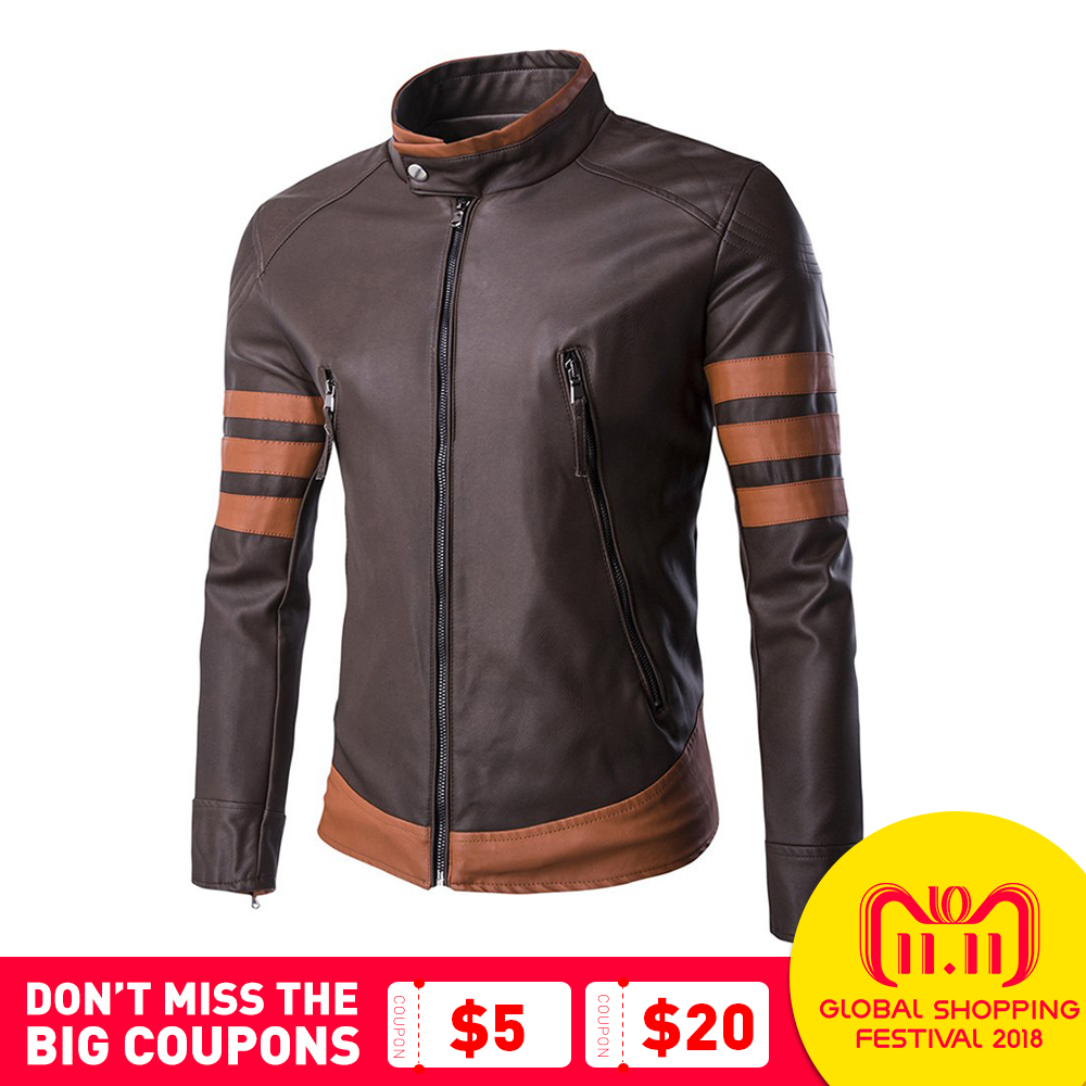 Herobiker Motorcycle Jackets Men Vintage Retro PU Leather Jacket Punk Windproof Biker Slim Classical Faux Leather Moto Jacket faux twinset rib splicing hooded long sleeve slimming modish pu leather jacket for men