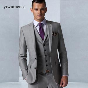deb27a913e yiwumensa 2018 Tuxedo Groom 3 pieces pants wedding man suit