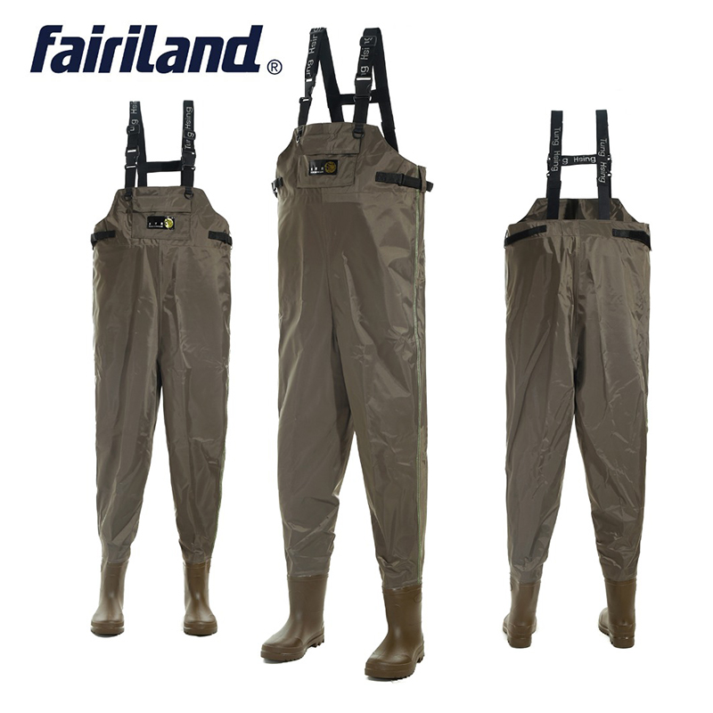 Waterproof Fishing Wader 41-46 Size Chest Waders With Wading Boots For Hunting Bootfoot Wader Fly Fishing Cloth Nylon Shell