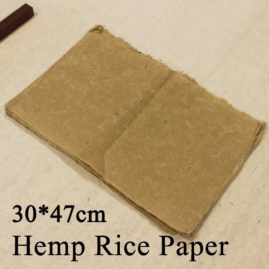 Ручная работа пеньковая бумага китайская живопись каллиграфия рисовая бумага джутовая бумага Мао Бянь Чжи живопись поставка