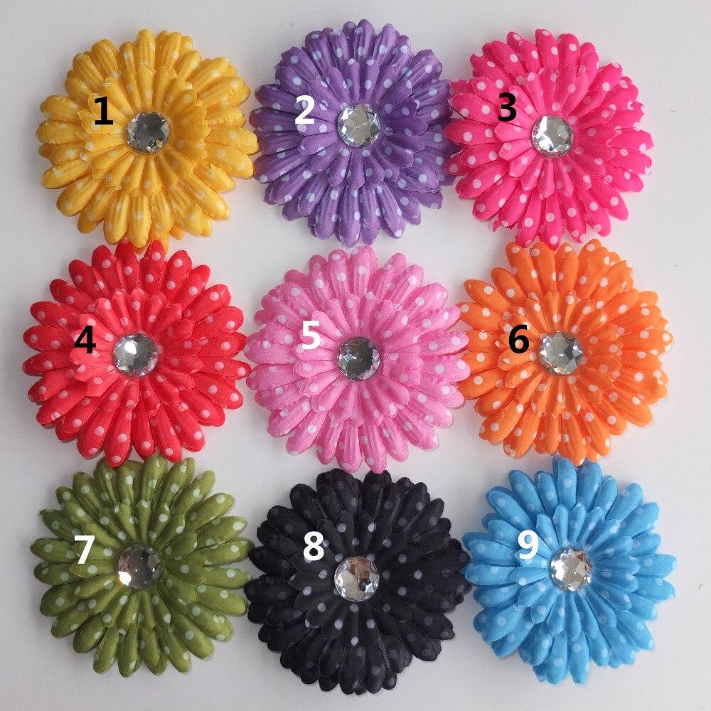 4 Inch Dots Daisy Flower Headwear Hair Bow Hair Clips Hairgrips