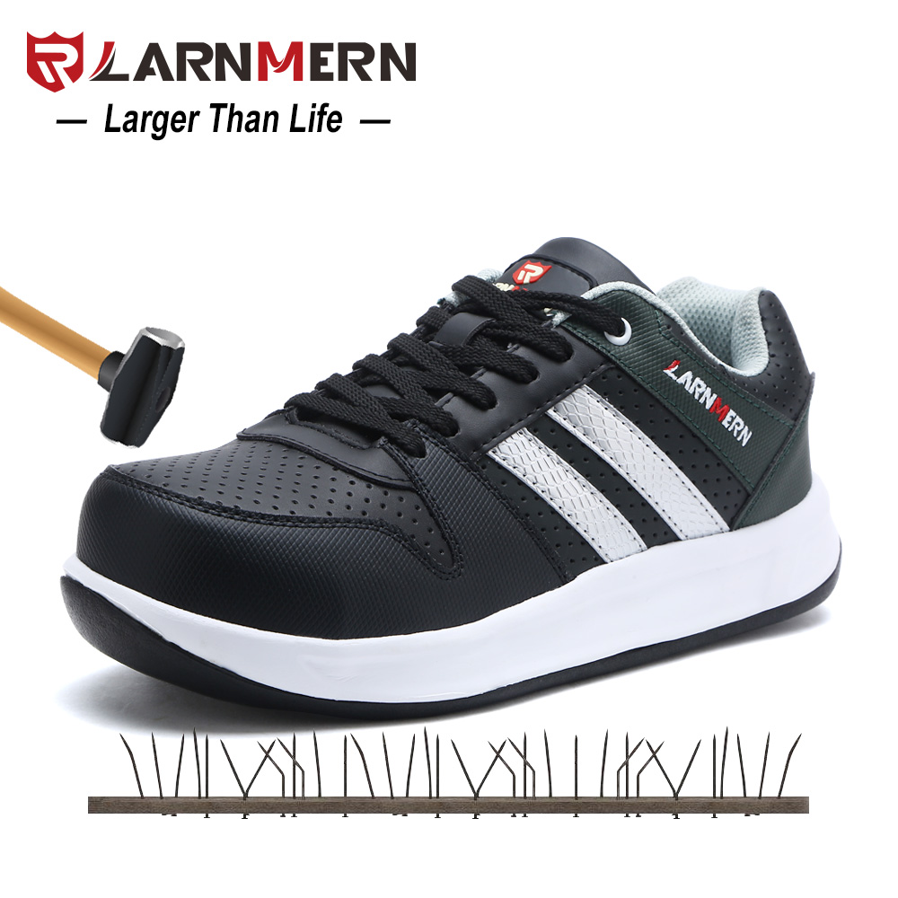 LARNMERN Men Steel Toe Cap Work Safety Shoes Breathable Outdoor Security Footwear For Man Construction Sneaker Puncture Proof