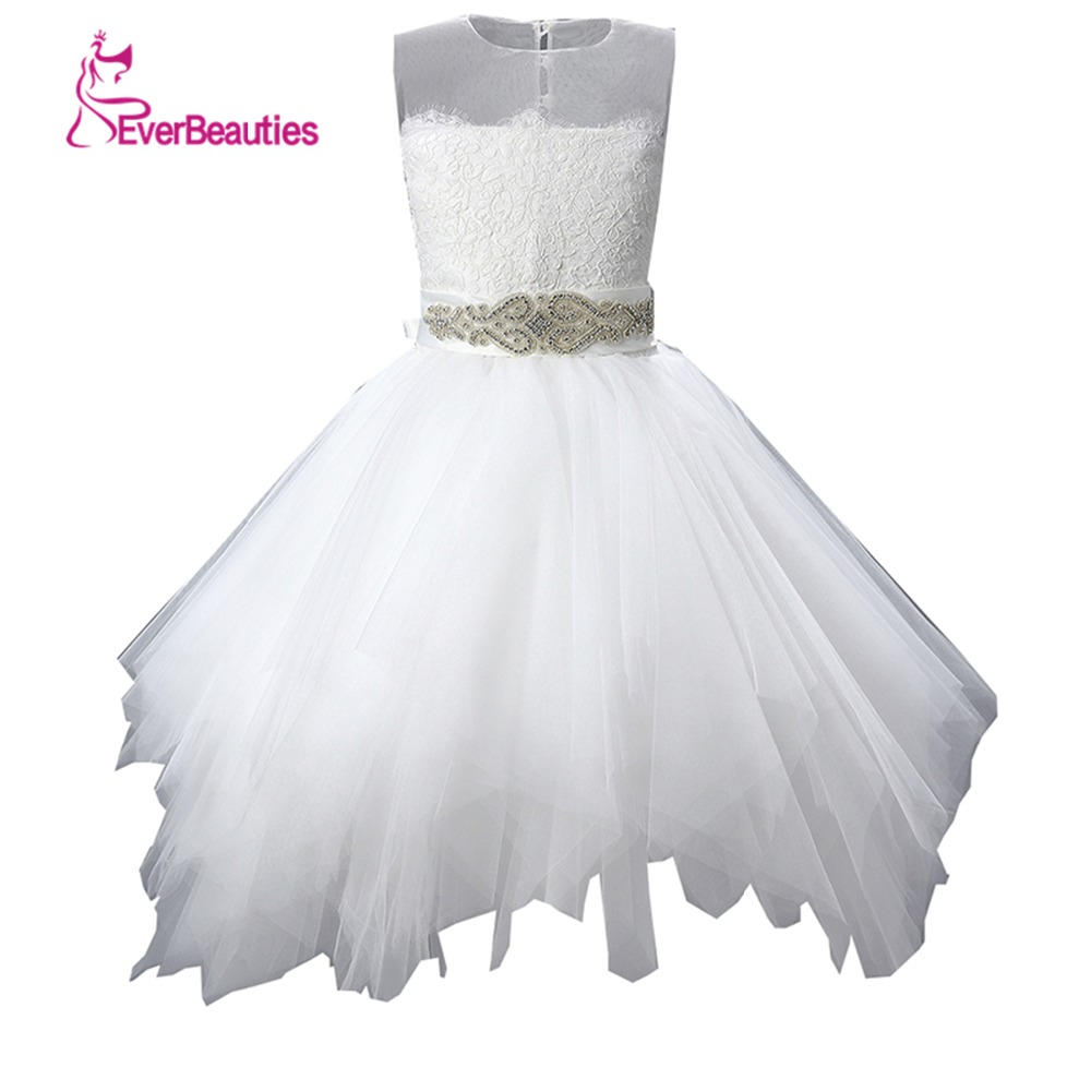 Flower Girl Dresses For Weddings Lace Applique Ball Gown Tulle ...