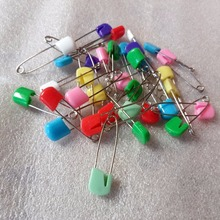 Diaper-Pins Needles Safety-Head Colorful Plastic Baby 30pcs Multipurpose