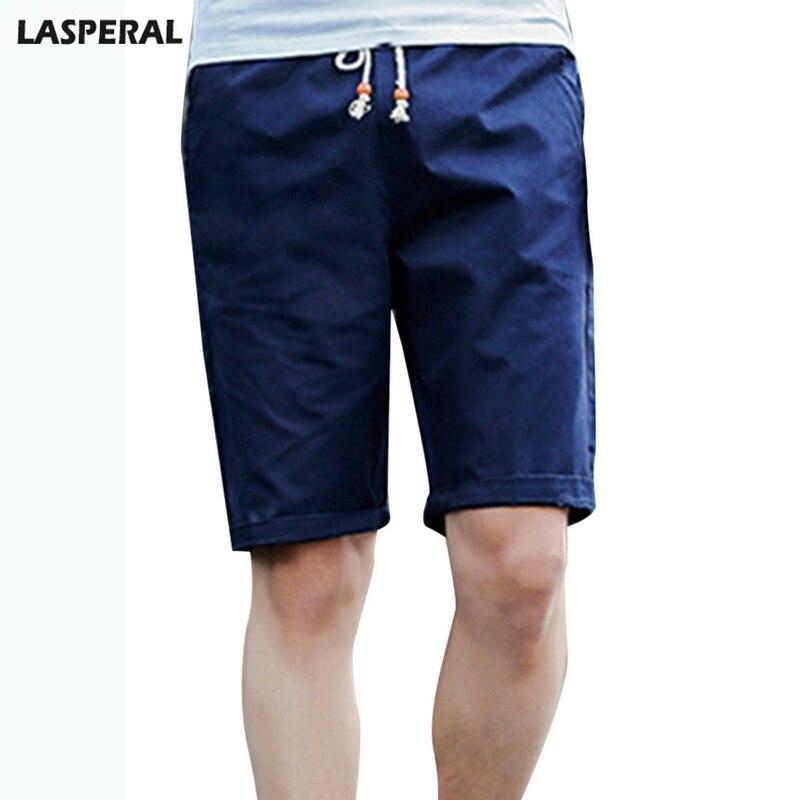 Lasperal бренд Для мужчин Рубашки домашние Лето Уличная Хлопка Доска Шорты плюс Размеры одноцветное бермуды Шорты 2018 Мода Для мужчин одежда