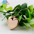 Miss Lady  inspired heart pocket watches necklace photos open close fashion Pendant love Necklace for women Jewelry MLA1001