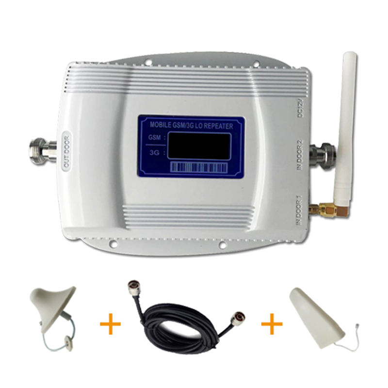 3G 2G 900 2100 Dual Band Cell Phone Cellular Signal Repeater Amplifier GSM Wcdma LTE Mobile Phone Signal Booster Dual Antenna