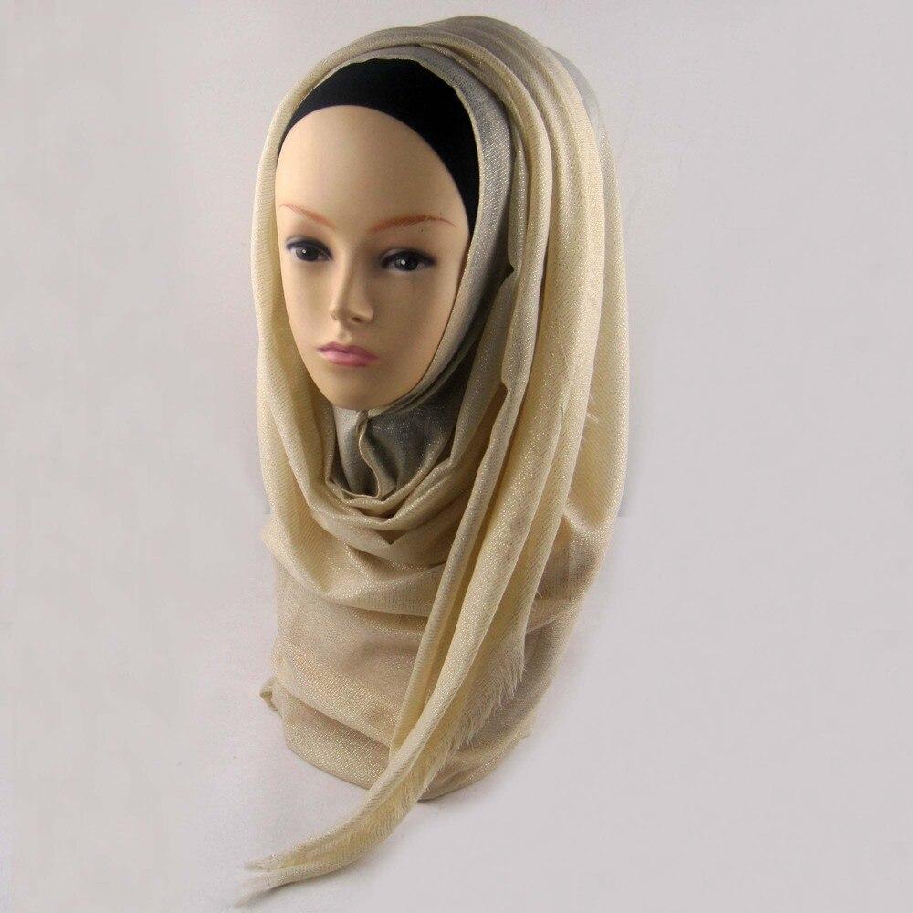 Мусульманский хиджаб мерцание шарф хиджабы блестящий шарфы мерцающий шаль, можете выбрать цвет - Цвет: color6