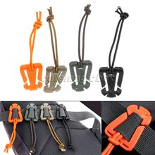 10 Pcs /Set Webbing Military Dominator Molle Elastic Cord Hang Buckles Strap Clip Backpack EDC Tool Tactical Outdoor Travel Kits