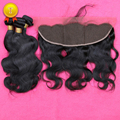 Brazilian Body Wave With Closure Ear to Ear Lace Frontal Closure With Bundles Full Frontal Lace Closure 13x4 With 2 or 3 Bundle
