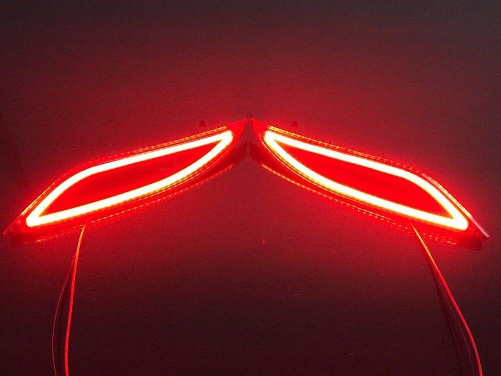 eOsuns LED warning light + brake light + turn signal rear bumper light driving reflector for chevrolet malibu XL, tail light