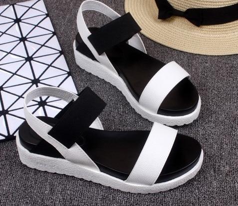 2019New Summer Women Sandals Flat Shoes Woman Comfortable Casual Hook Loop Sandalias Mujer Women's Footwear
