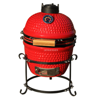 13inch Ceramic BBQ Grill Charcoal Wood Burning Stove Cermic Pizza Oven Home Ourdoor Barbecue Grill Pizza Oven Portable