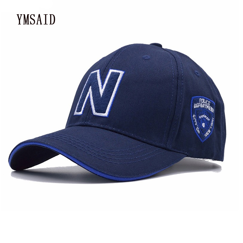 Ymsaid 4 Colors Men's   Baseball     Caps   Brand Police   Cap   with N Letter Suede   Baseball     Cap   Women Snapbacks Adjustable